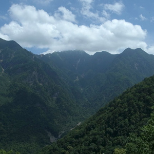 駒ヶ岳が見えている