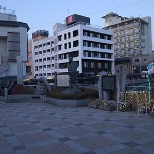 飯坂温泉駅前