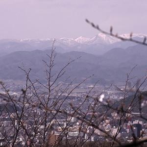 福島市街と吾妻連峰