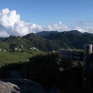 黒味岳方面の山々